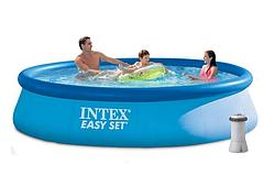 Наливной бассейн.Надувной бассейн Intex.Круглый надувной бассейн Интекс.