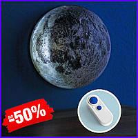 Светодиодный светильник Луна на стену UFT Moonlight с пультом управления, настенный 3d светильник-ночник луна