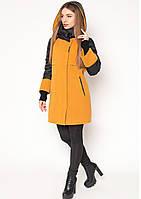 Пальто женское №44 (горчица)