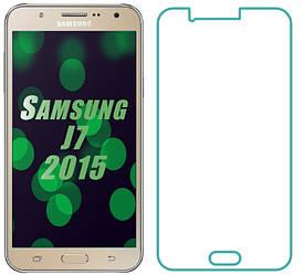 Защитное стекло Samsung Galaxy J7 J700 (Прозрачное 2.5 D 9H) (Самсунг Джей 7 Джи 700)