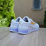 Жіночі кросівки Puma Cali (біло-перломутровые) 20156, фото 4
