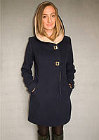 Пальто женское №49 ЗИМА (синий), фото 1