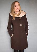Пальто жіноче №49 ЗИМА (шоколад), фото 1