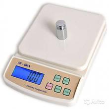 Электронные Кухонные Весы 5 кг SF-400A с подсветкой + Батарейки