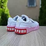 Жіночі кросівки Puma Cali (біло-рожеві) 20158, фото 2