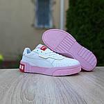 Жіночі кросівки Puma Cali (біло-рожеві) 20158, фото 5