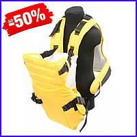 Рюкзак кенгуру №12 для новорожденных, рюкзак переноска для детей слинг, сумка для малыша кенгуру желтый