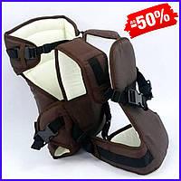Рюкзак кенгуру №12 для новорожденных, рюкзак переноска для детей слинг, сумка для малыша кенгуру коричневый