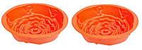 Набор силиконовых форм для выпечки красные «Роза» 2шт Ø 22см х 10см 1924 А-Плюс