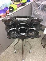 Тележка подставка парикмахерская Т0114 для кисточек и мисок черная медуза YRE 52.0, фото 1
