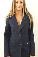 Пальто жіноче №56 (синій), фото 1
