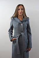 Пальто жіноче №57 (бірюза), фото 1