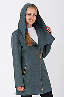 Пальто жіноче №46/1 (бірюза), фото 1