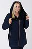Пальто жіноче №42/1 ЗИМА (синій) Nick