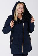 Пальто жіноче №42/1 ЗИМА (синій) Nick, фото 1