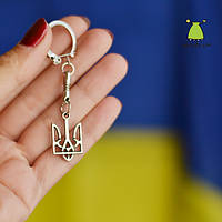 "Брелок на ключи ""Герб Украины"". 25*15 мм. Карабин с пружинкой"