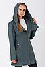 Пальто жіноче №46 (бірюза)
