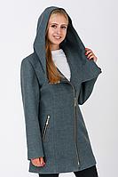 Пальто жіноче №46 (бірюза), фото 1