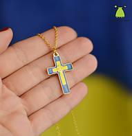 "Кулон (подвеска) ""Крест"". Символика Украины. Золото"