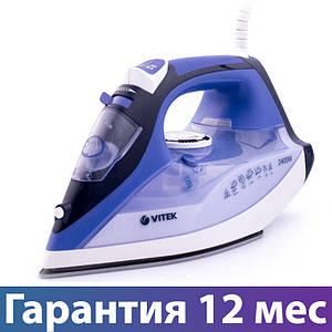 Праска Vitek VT-1239, 2400 Вт, керамічна підошва, авто відключення, сикавка, відпарювання