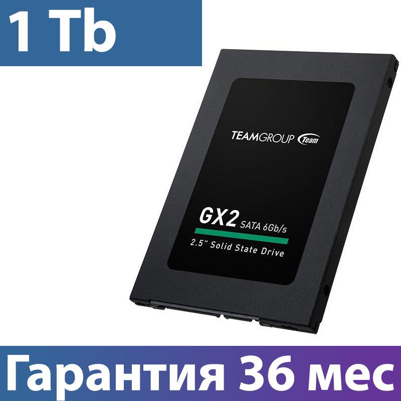 """SSD диск 1 Tb, Team GX2, SATA 3, 2.5"""", TLC, 530/480 MB/s (T253X2001T0C101), ссд для ноутбука"""