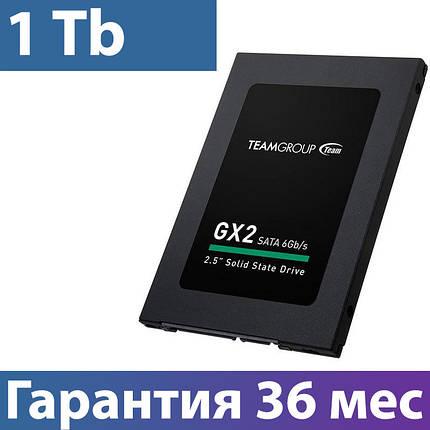 "SSD диск 1 Tb, Team GX2, SATA 3, 2.5"", TLC, 530/480 MB/s (T253X2001T0C101), ссд для ноутбука, фото 2"