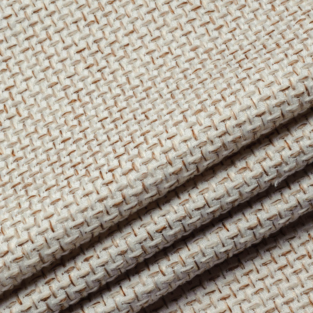 Мебельная ткань для обивки рогожка Токио светло-бежевого цвета