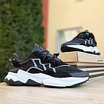 Мужские кроссовки Adidas OZWEEGO (черно-белые) 1959, фото 2