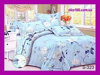 Полуторный комплект постельного белья из хлопка Полуторний комплект постільної білизни на молнии S323