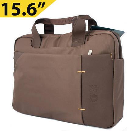 """Сумка для ноутбука 15.6"""" HQ-Tech EL-158913S, коричневая (нейлон), фото 2"""