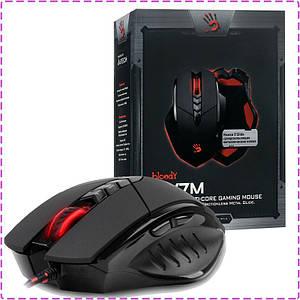 Ігрова мишка A4Tech V7 M Bloody Black, USB геймерська миша а4теч блади блуд для комп'ютера, пк, ноутбука