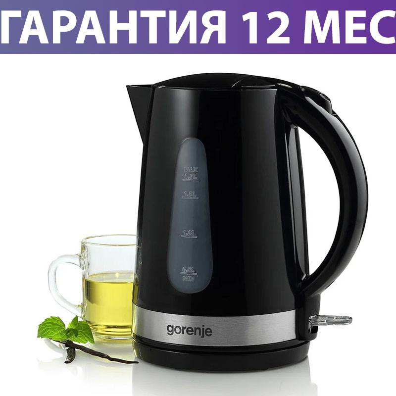 Электрочайник Gorenje K17BK 2200W Black, 1.7 л, чайник электрический, електрочайник