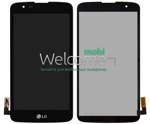 Модуль LG K350E K8,K350N,Phoenix 2 black дисплей экран, сенсор тач скрин ЛЖ, фото 2