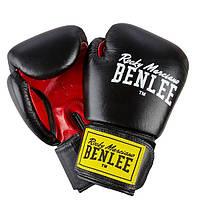 Перчатки боксерские Benlee FIGHTER 12oz /Кожа /черно-красные benlee rocky marciano,, фото 1