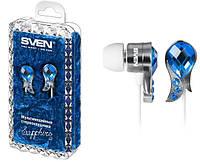 Наушники Sven SEB Sapphire синие, вакуумные, проводные для телефона, навушники свен