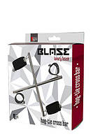 Стальной БДСМ фиксатор-крест Blaze Hog Tie Cross Bar