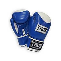 Перчатки боксерские THOR COMPETITION 14oz /Кожа /сине-белые, фото 1