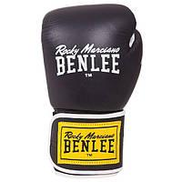 Перчатки боксерские Benlee TOUGH 16oz /Кожа /черные benlee rocky marciano,, фото 1