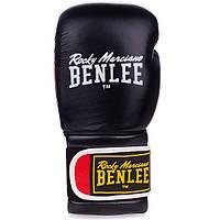 Перчатки боксерские Benlee SUGAR DELUXE 14oz /Кожа /черно-красные benlee rocky marciano,, фото 1