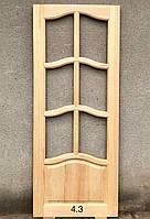 Двери деревянные №4.3, 40х600/700/800/900х2050мм, массив сосны, шт