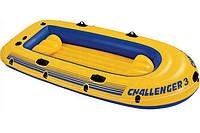 Лодка надувная Intex 68369 Challenger на 3 человека Желтый int68369, КОД: 110899