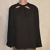 Блузка женская большой размер, Dorothy Perkins, черная, креп-шифоновая, р.22(56\58)