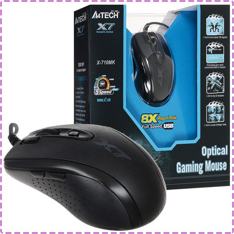 Игровая мышка A4Tech X7 X-710MK USB геймерская мышь а4теч oscar Х7 для компьютера, пк, ноутбука