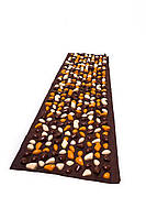 Коврик с камушками DECO - Lamor 140х40 см (коричневая основа) бежево-оранж-коричневый