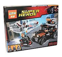 Конструктор аналог лего Lepin Супер герои (Опасное ограбление Кроссбоунса), 204 деталей (07031)