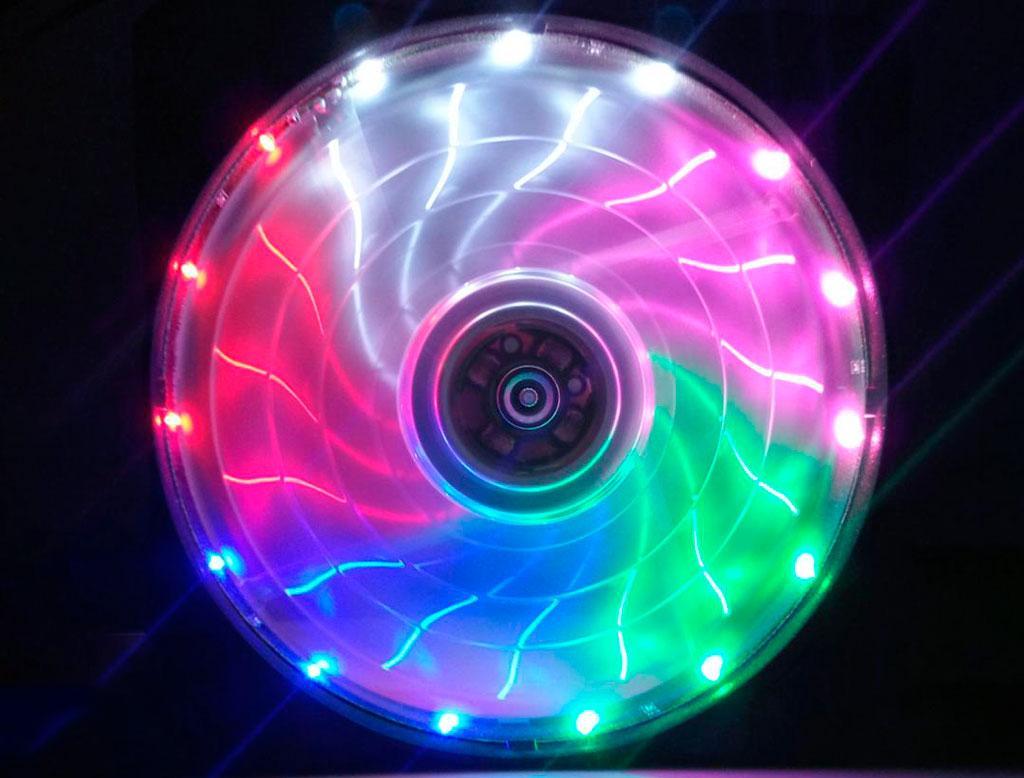 Вентилятор (кулер) для корпуса 12025S LED Colorful