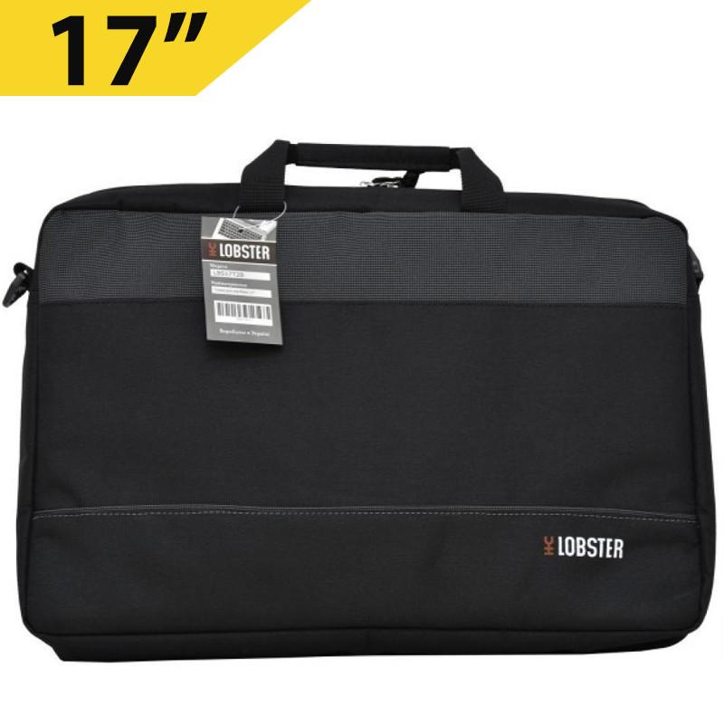 """Сумка для ноутбука 17"""" Lobster LBS17T2B, черная, полиэстер, 44 х 31 х 4.5 см"""