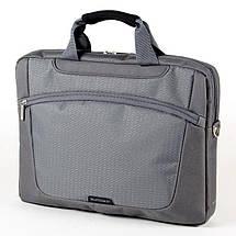 """Сумка для ноутбука 15.6"""" Sumdex PON-318GP, сіра, поліестер, 38,7 x 28,6 x 6,4 см, фото 3"""