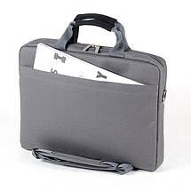 """Сумка для ноутбука 15.6"""" Sumdex PON-318GP, сіра, поліестер, 38,7 x 28,6 x 6,4 см, фото 2"""