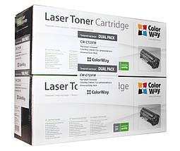 Комплект 2 картриджа Canon 725, Black, LBP-6000/6020, MF3010, ресурс 1600 листов, Dual Pack (CW-C725FM), фото 2